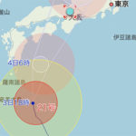 台風21号がやってくる。