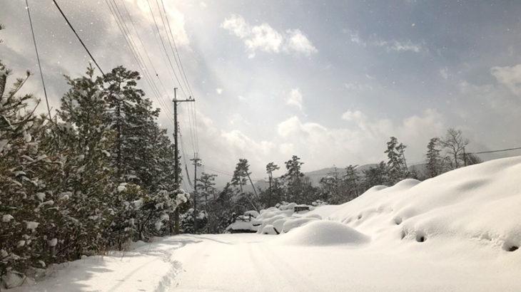 年末は雪模様